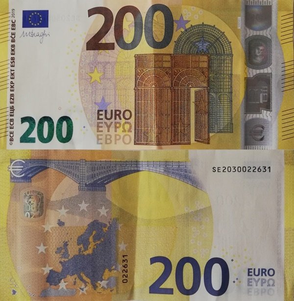 2019 Issue - 200 Euro (Signature Mario Draghi)