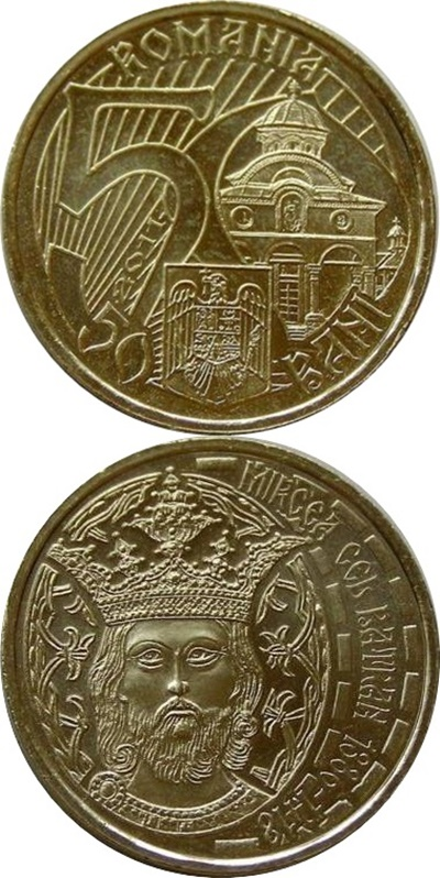 50 bani commemorative circulation coins (2010- )