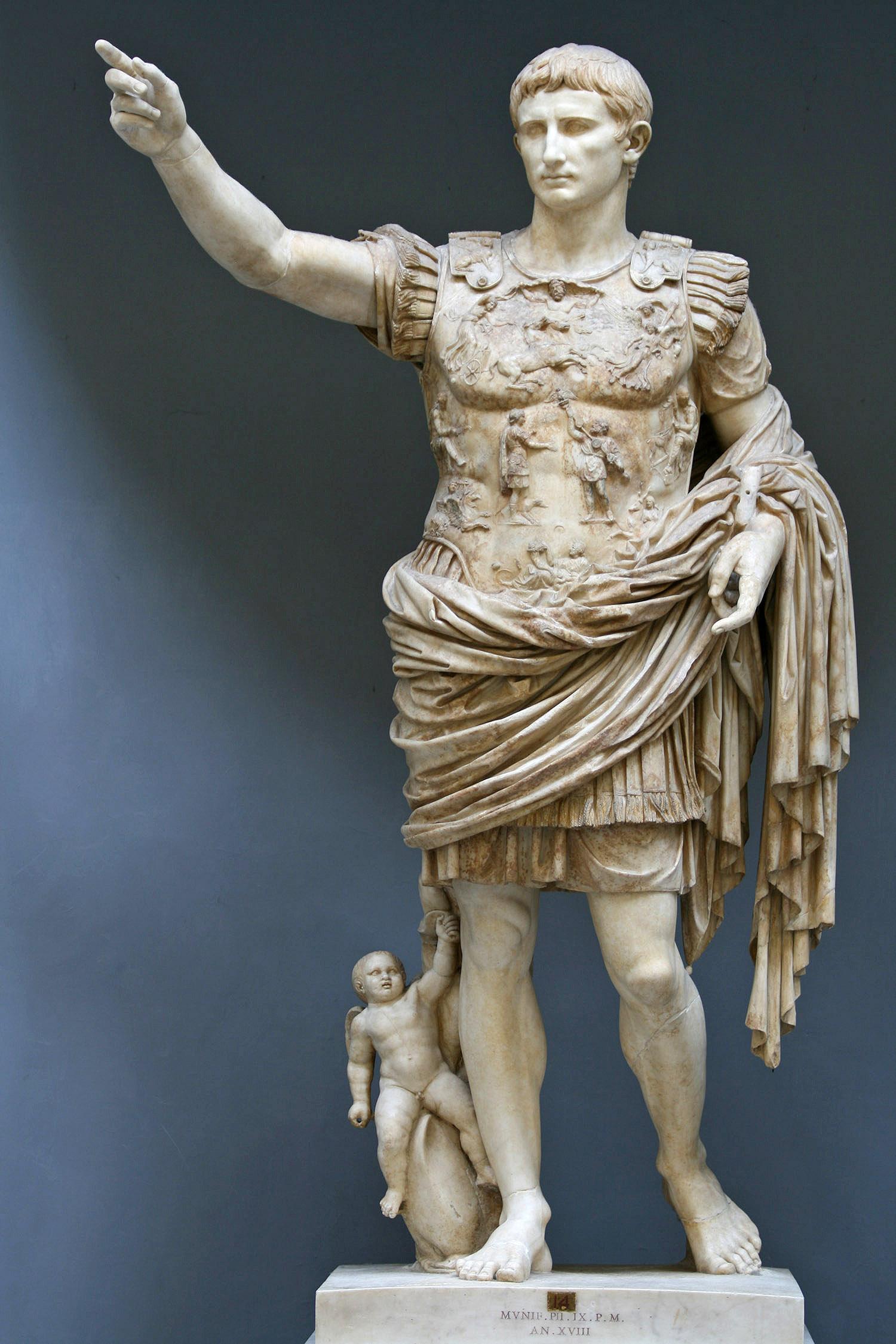 Augustus (Imperator Caesar Divi Filius Augustus) (27 B.C. - 14)