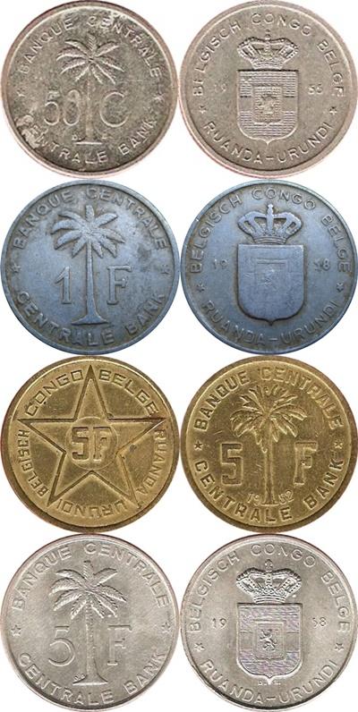 Belgian colony - 1954-1960 (RUANDA-URUNDI)