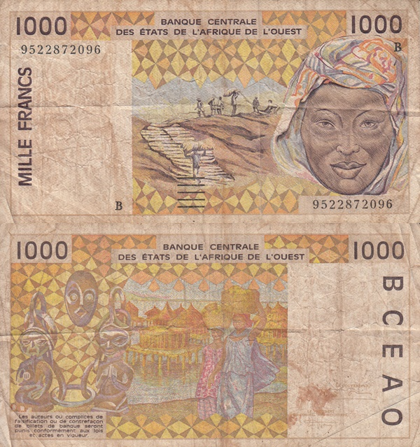 Benin (B) - 1991-2003 Issue - 1000 Francs