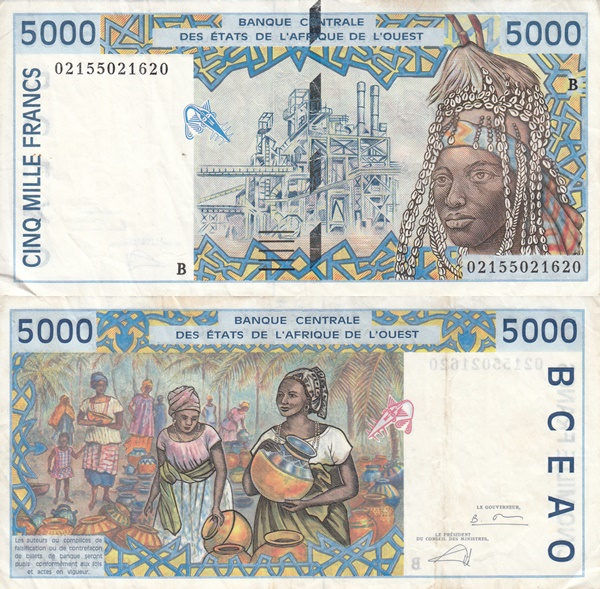 Benin (B) - 1992-2003 Issue - 5000 Francs