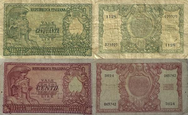 1951 Issue - Biglietto Di Stato