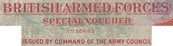 Forțele armate britanice, vouchere speciale - Seria a 2-a - Emisiunea 1948