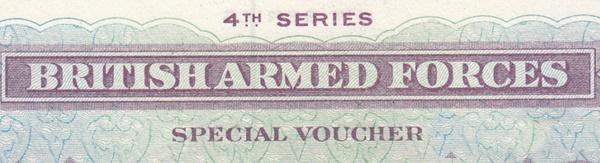 Fortele armate britanice, vouchere speciale - Seria a 4-a - Emisiunea 1962