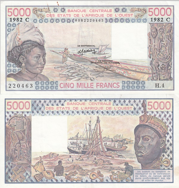 Burkina Faso (C) - 1977-1992 Issue - 5000 Francs