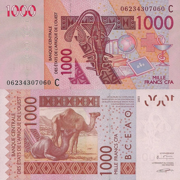 Burkina Faso (C) - 2003 Issue – 1000 Francs