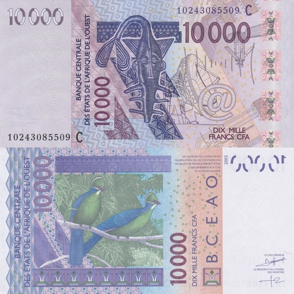 Burkina Faso (C) - 2003 Issue – 10000 Francs
