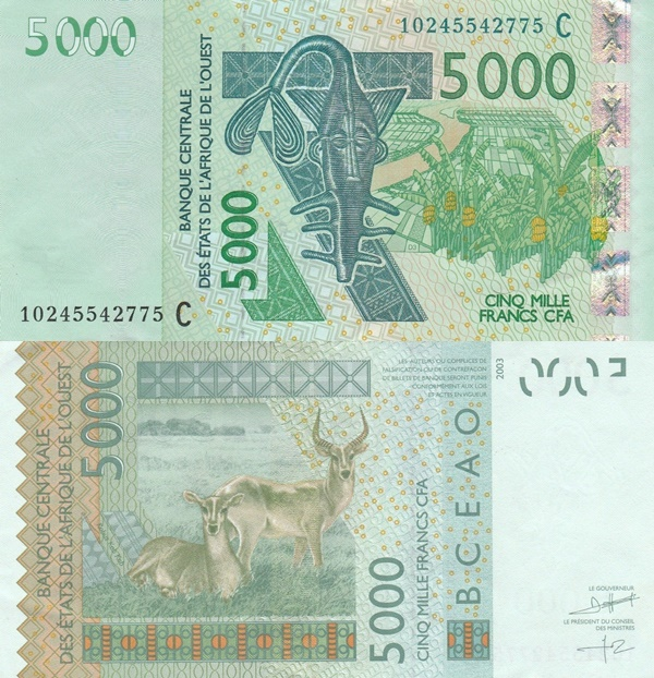 Burkina Faso (C) - 2003 Issue – 5000 Francs