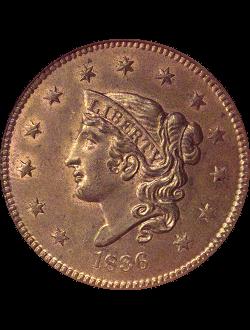 Cent, Coronet Head (1816-1839)