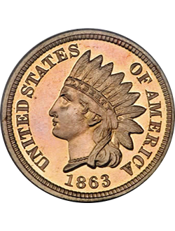 Cent, Indian Head (1859-1909)