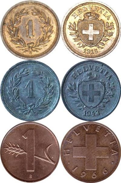 Confederation - 1850-2006 - 1 Rappen