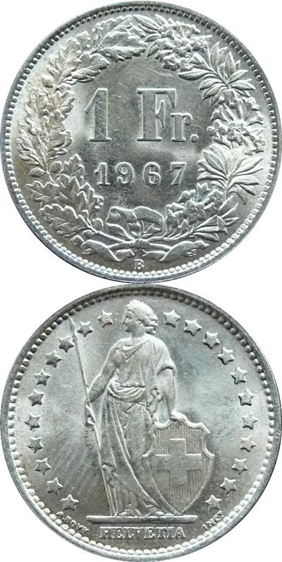 Confederation - 1850-2019 - 1 Franc