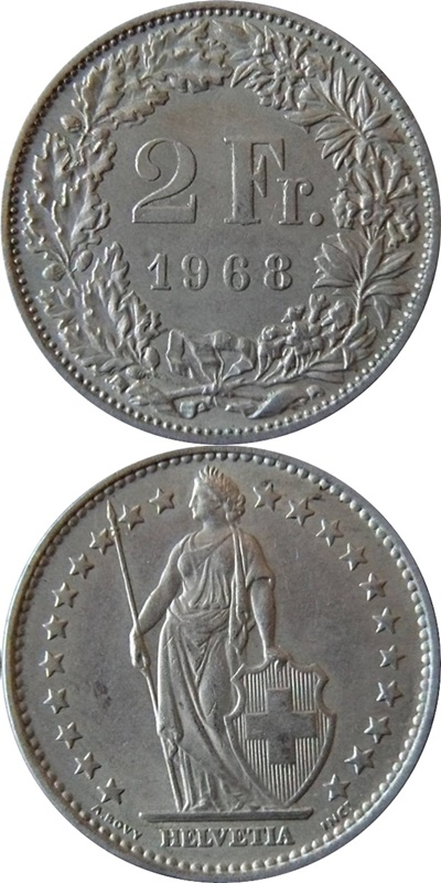 Confederation - 1850-2017 - 2 Francs