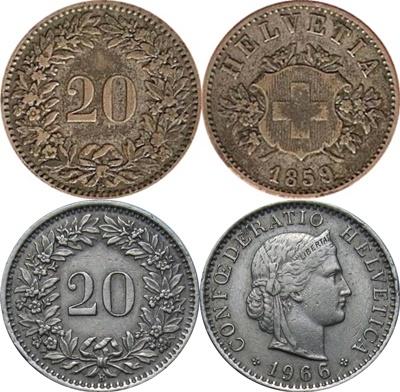 Confederation - 1850-2017 - 20 Rappen