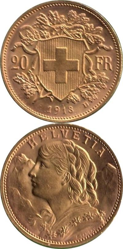 Confederație - 1897-1949 - 20 Franci