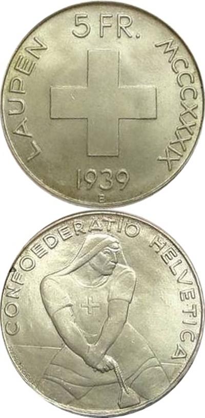 Confederation - Comemorative 1936-1963 - 5 Francs (silver)