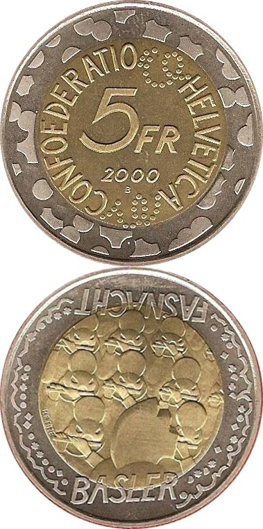 Confederation - Commemorative 1999-2003 - 5 Francs (Bi-Metallic)