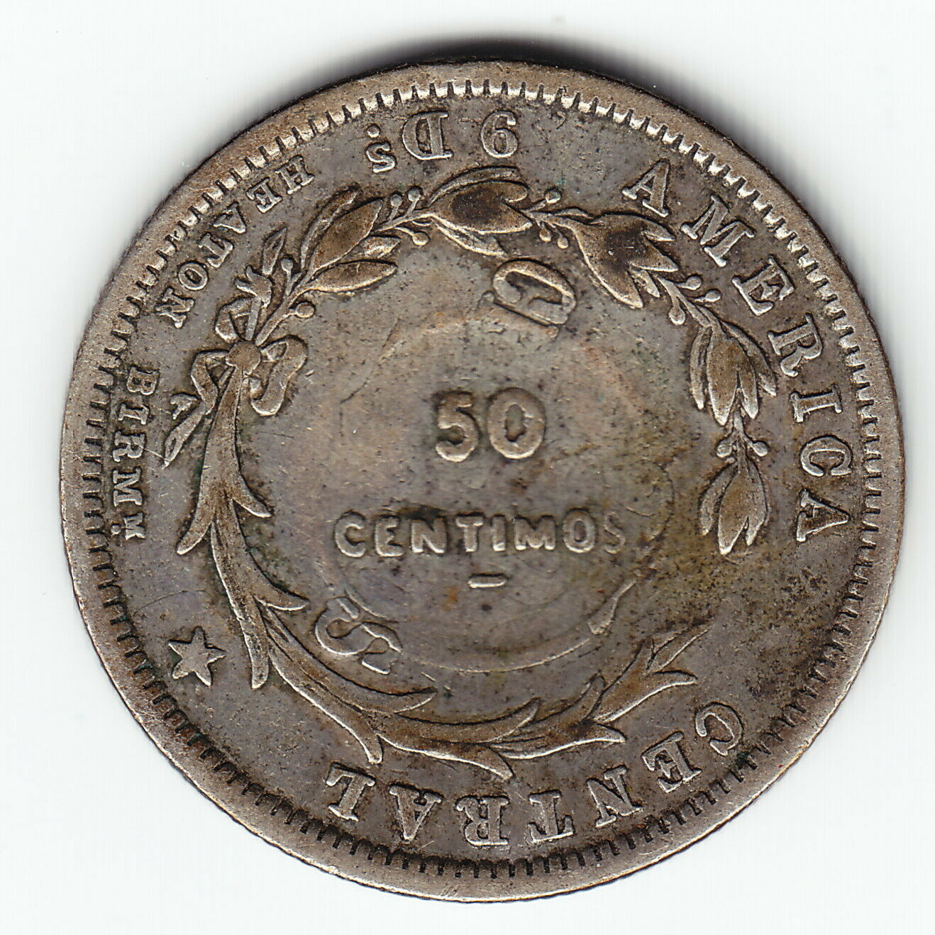 Countermarked coinage - 50 Centimos (1923)