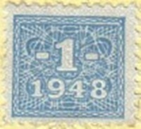 Democratic Republic - 1948 Issue - Soviet occupation zone - Currency Reform Issue (Stamps affixed on Rentenmark and Reichsmark)