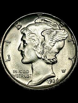 Dime, Mercury (1916-1945)