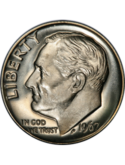 Dime, Roosevelt (1946-present)