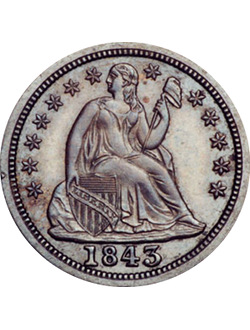 Dime, Seated Liberty (1837-1891)