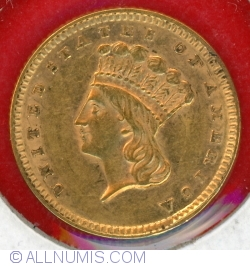 Dollar, Indian Head, Gold (1854-1889)