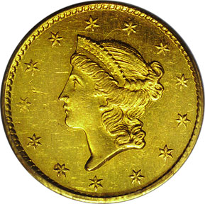 Dollar, Liberty Head, Gold (1849-1854)