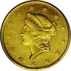 Dollar, Liberty Head, Gold (1849-1854)