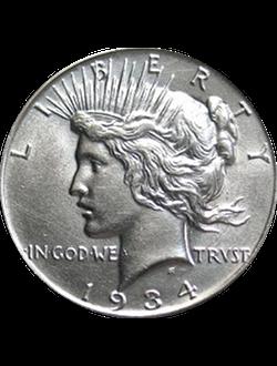 Dollar, Peace Dollar (1921-1935)