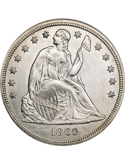 Dollar, Seated Liberty (1840-1873)