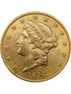 Double Eagle, Liberty Head (1849-1907)
