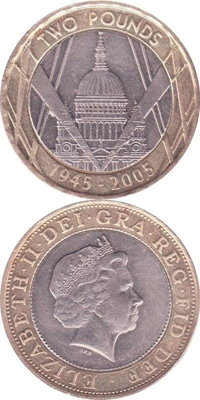 Elizabeth II - 2 Pounds (Bimetallic) 1997-