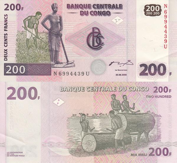 Emisiunea 2000 (30. 06.) - 200 Francs