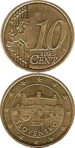 Euro (2009 - ) - 10 Euro Cent