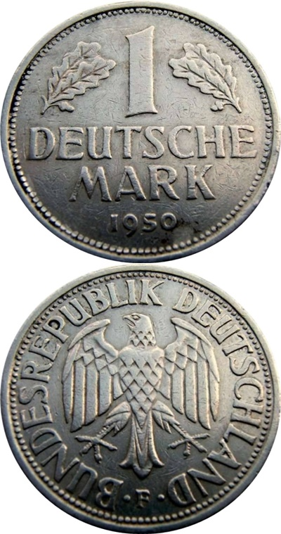 Federal Republic - 1950-2001 - 1 Mark