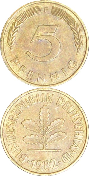 Republică Federală - 1950-2001 - 5 Pfennig