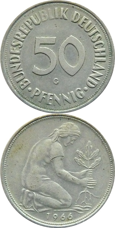 Federal Republic - 1950-2001 - 50 Pfennig