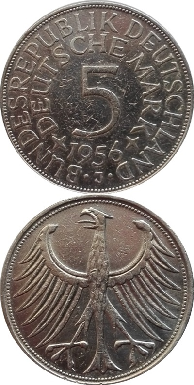 Republică Federală - 1951-1974 - 5 Mărci