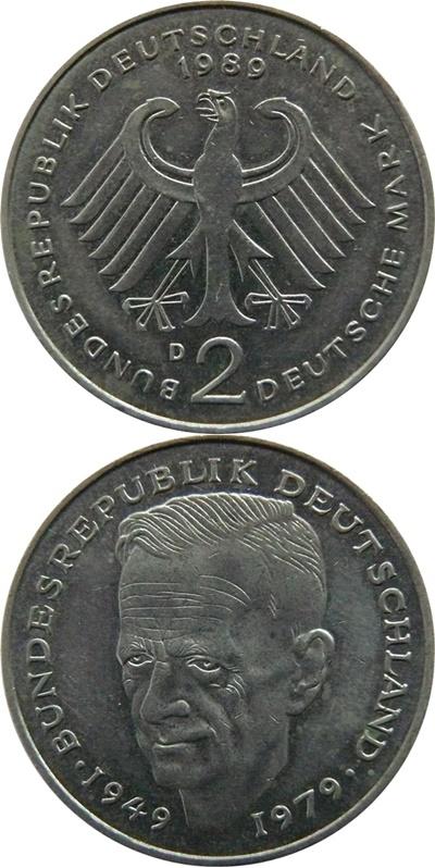 Republică Federală - 1979-1993 - 2 Mărci (Kurt Schumacher)