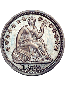 Half Dime, Seated Liberty (1837-1873)