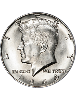 Half Dollar, Kennedy (1964-prezent)