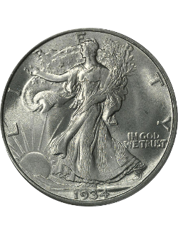 Half Dollar, Walking Liberty (1916-1947)