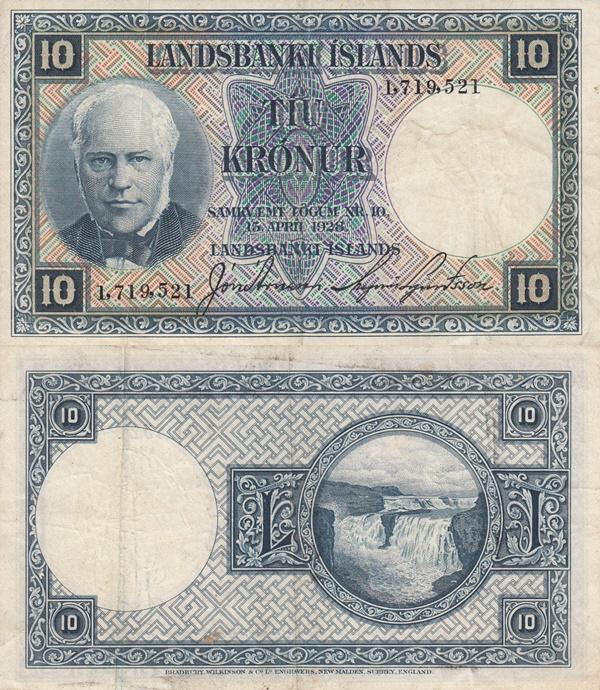 Legea din 15.04.1928 - 10 Krónur
