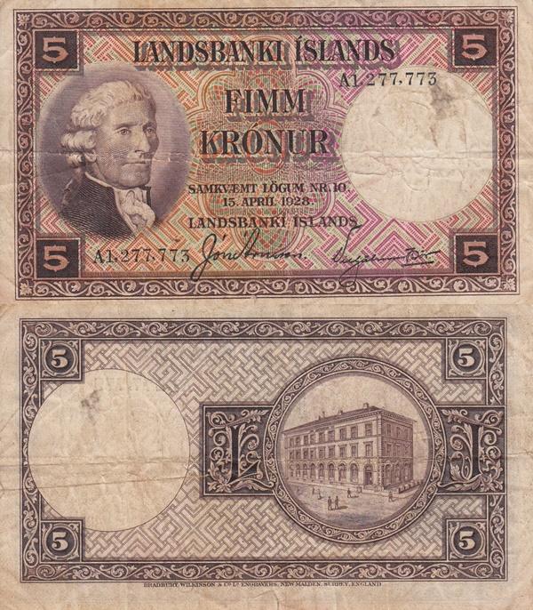 Legea din 15.04.1928 - 5 Krónur