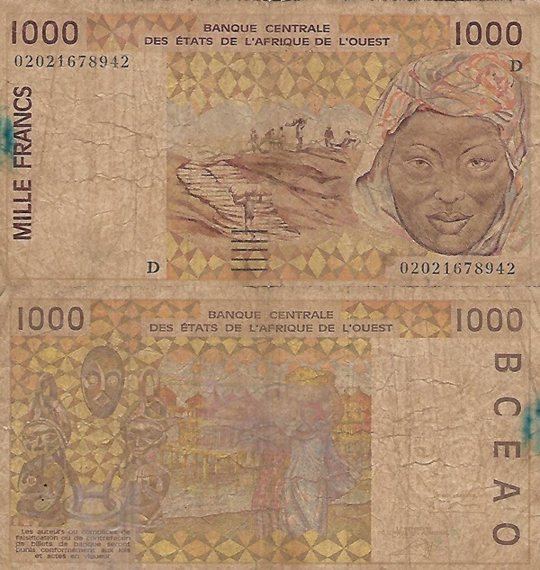 Mali (D) - 1991-2003 Issue - 1000 Francs