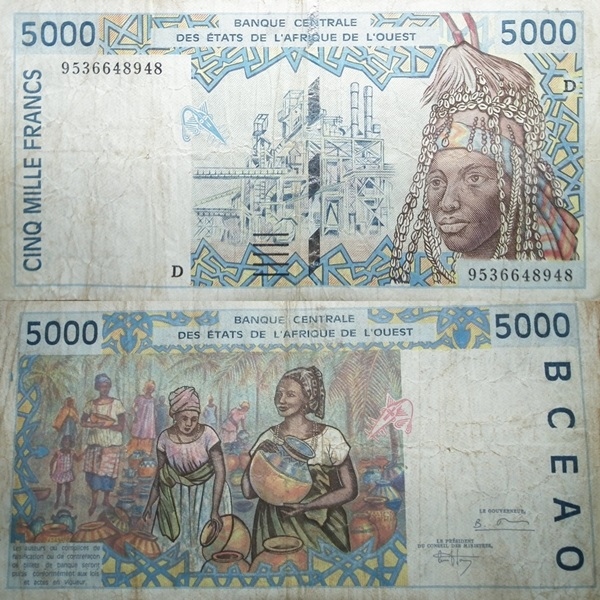 Mali (D) - 1991-2003 Issue - 5000 Francs