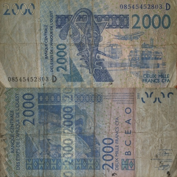 Mali (D) - 2003-2014 Issue - 2000 Francs