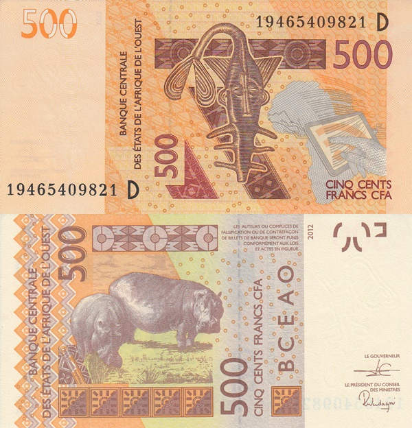 Mali (D) - 2012 Issue - 500 Francs